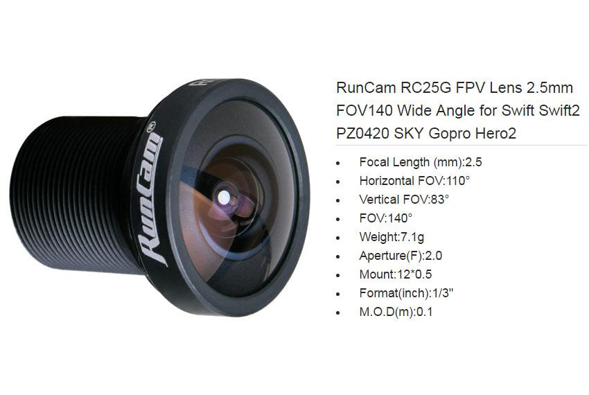 RunCam RC25G FPV Lens