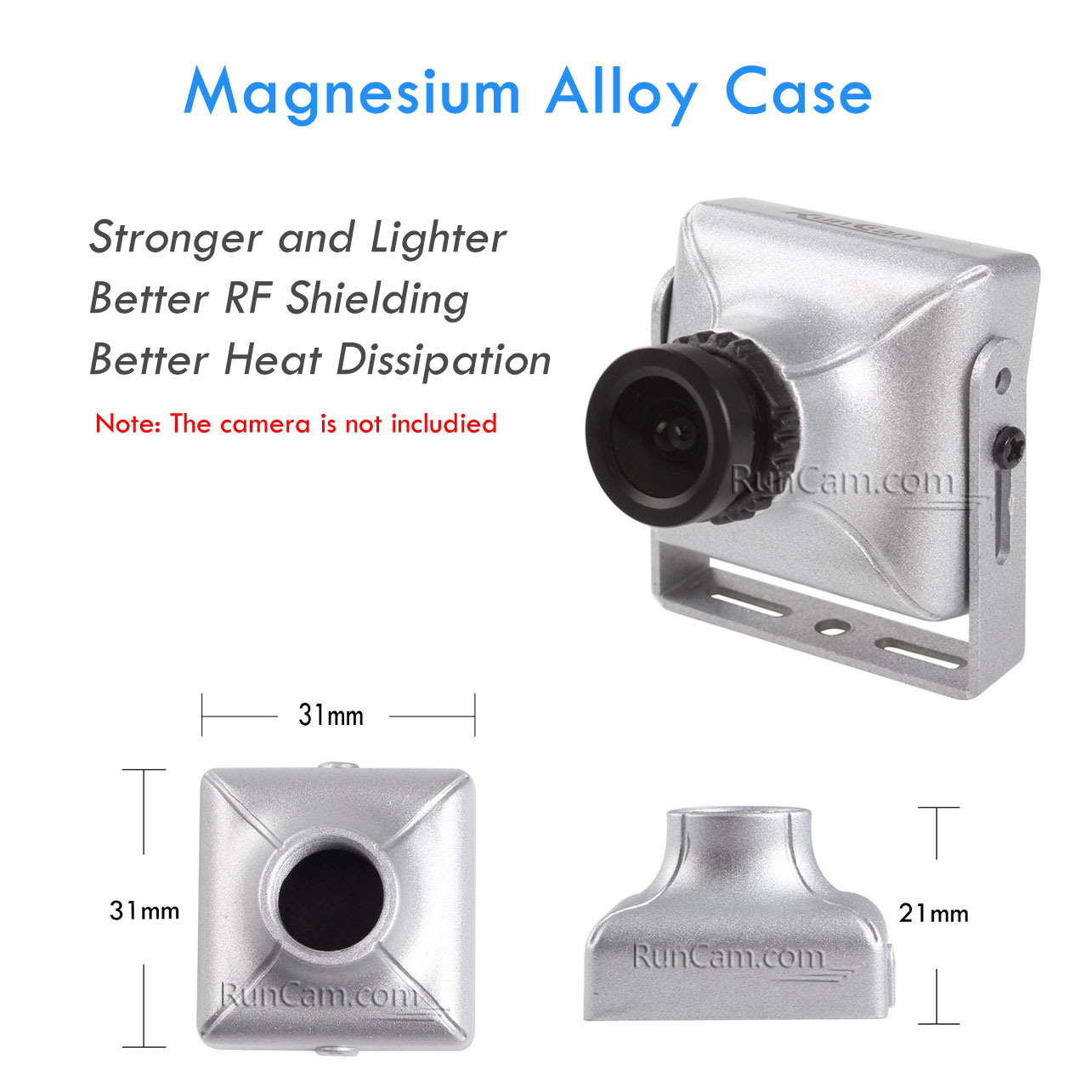 Magnesium Alloy, Case, RunCam PZ0420M