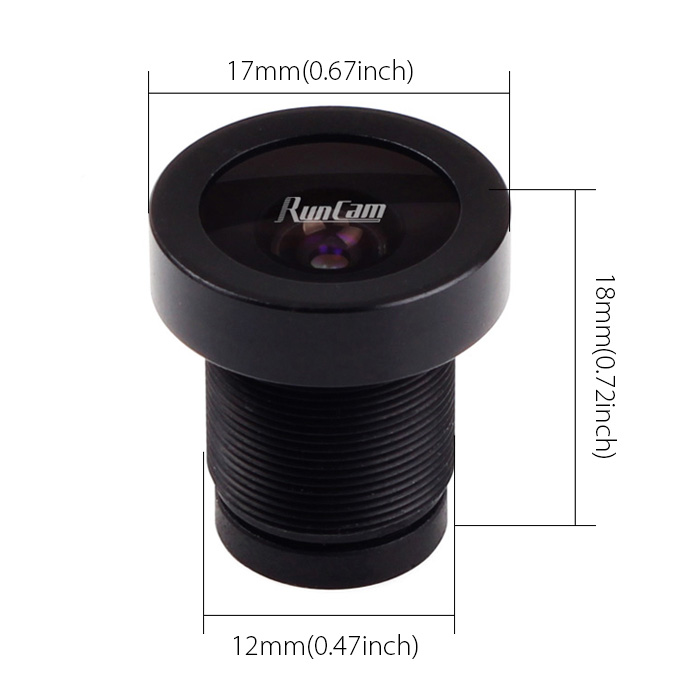 "FOV 130 Degree 1/1.8"" 2.5mm Wide Angle ,FPV Camera Lens RunCam Eagle 16:9"
