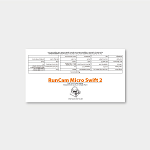 RunCam Micro Swift 2 Package