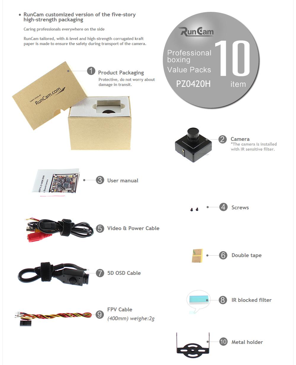 RunCam, Product Packaging
