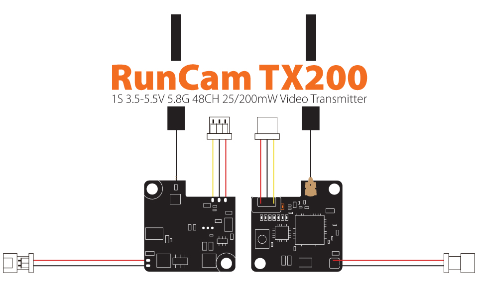 RunCamTX25,1S 5.8G 6band,48CH 25mw,Video Transmitter<br />
