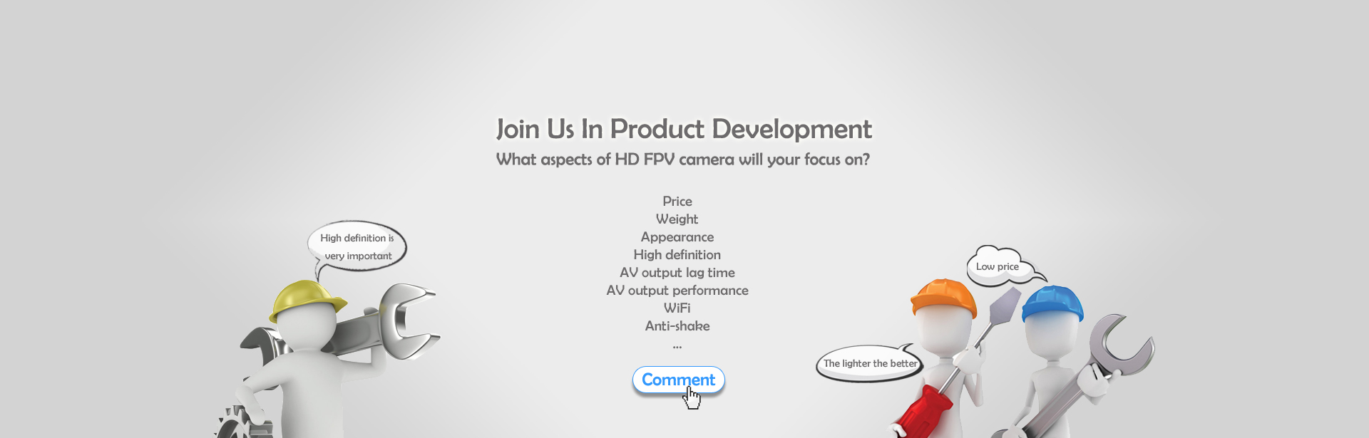 Join Us In Product Development