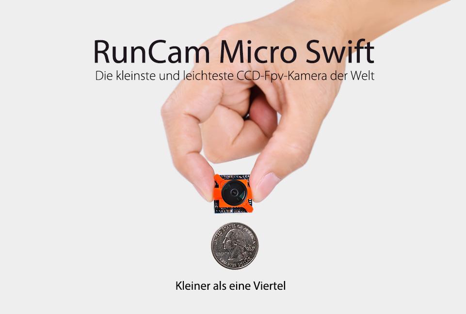 RunCam Micro Swift The world's smallest and lightest CCD FPV camera